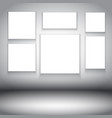 blank canvases in room interior 2202 vector image vector image