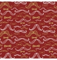 Bow Tie and Moustache Seamless Pattern vector image vector image