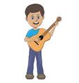 boy playing guitar vector image vector image