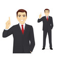 business man pointing up vector image vector image