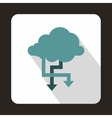 Cloud and arrows icon flat style vector image vector image