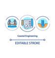 coastal engineering concept icon vector image