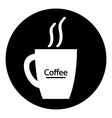 Coffee cup symbol button vector image