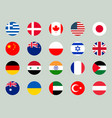 collection of flags of the world on a white vector image