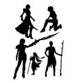 costume silhouette vector image vector image