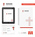 cross business logo tab app diary pvc employee vector image vector image