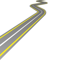 curved road isolated on white vector image vector image