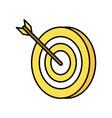 dart on bullseye icon image vector image vector image