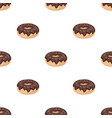 donut with chocolate glaze icon in cartoon style vector image vector image