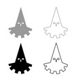 executioner hangman icon set grey black color vector image