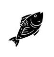 fish glyph icon cafe restaurant menu fish species vector image