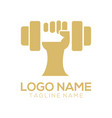 fitness logo and icon design vector image vector image