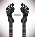 Footprint Headstocks Footstock vector image vector image