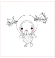 Forest Fairy on a white background vector image vector image
