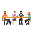 friends eating snacks friendly people group have vector image vector image