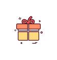 gift box icon design vector image vector image