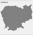 high quality map with borders vector image vector image
