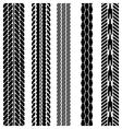 Imprints Tires vector image vector image