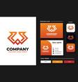 initial w monogram logo design template vector image vector image