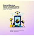 internet banking concept with character template vector image