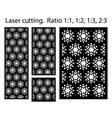 laser cutting panel template cnc decor vector image vector image