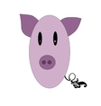 Little funny pig pink color vector image