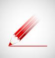 Logo red pencil vector image vector image