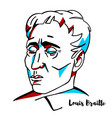 louis braille portrait vector image vector image