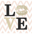 love composition of black and beige letters vector image