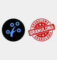 medical tree icon and scratched granuloma vector image vector image