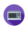 microwave icon in flat style with long shadow vector image