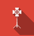 movie spotlight icon isolated with long shadow vector image vector image