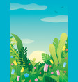 nature background summer vector image vector image