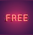 neon realistic word free for advertising