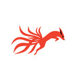 nine tails fox logo icon vector image