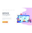 office meditation booth concept landing page vector image vector image