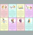 pedicure and manicure tanning posters set vector image vector image