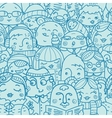 People in a crowd seamless pattern background vector image vector image