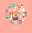 Pet care icon concept Flat design vector image vector image