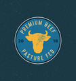 premium fresh beef label retro styled meat shop vector image vector image