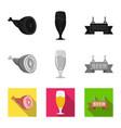 pub and bar symbol vector image