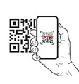 qr code scanning with mobile smartphone vector image