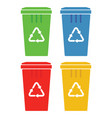 recycle bins vector image