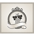 retro label for packing wine vector image
