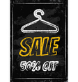 Sale clothes rack chalk vector image vector image
