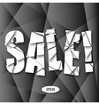 Sale Cut Paper Poster on dark gray background vector image vector image