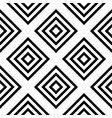 seamless geometric monochrome striped pattern vector image