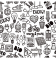 Seamless Pattern With Energy Symbols vector image