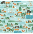 seamless pattern with forest flora and vector image vector image