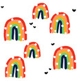 seamless pattern with naive abstract rainbows vector image vector image